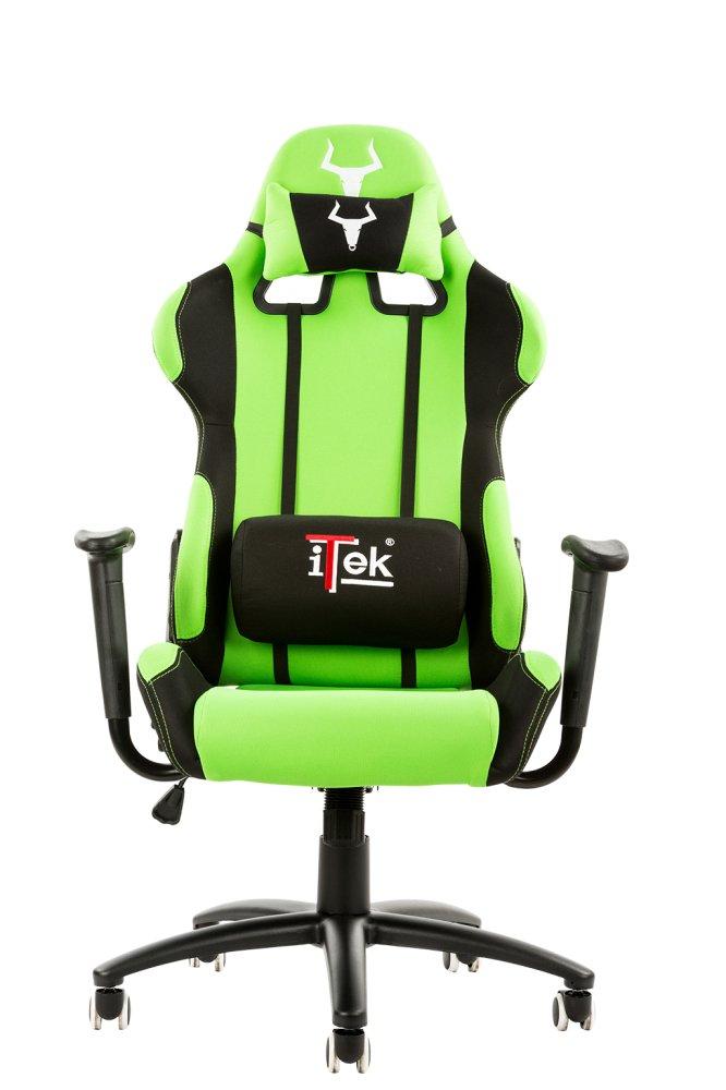 Doppio Cuscino Tessuto Nero Verde ITEK Gaming Chair Taurus S1