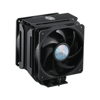 Ventola MasterAir MA612 STEALTH, 6Heat Pipes,2x120mm fans PWM 6501800RPM, silenziosa,Stealth Black H