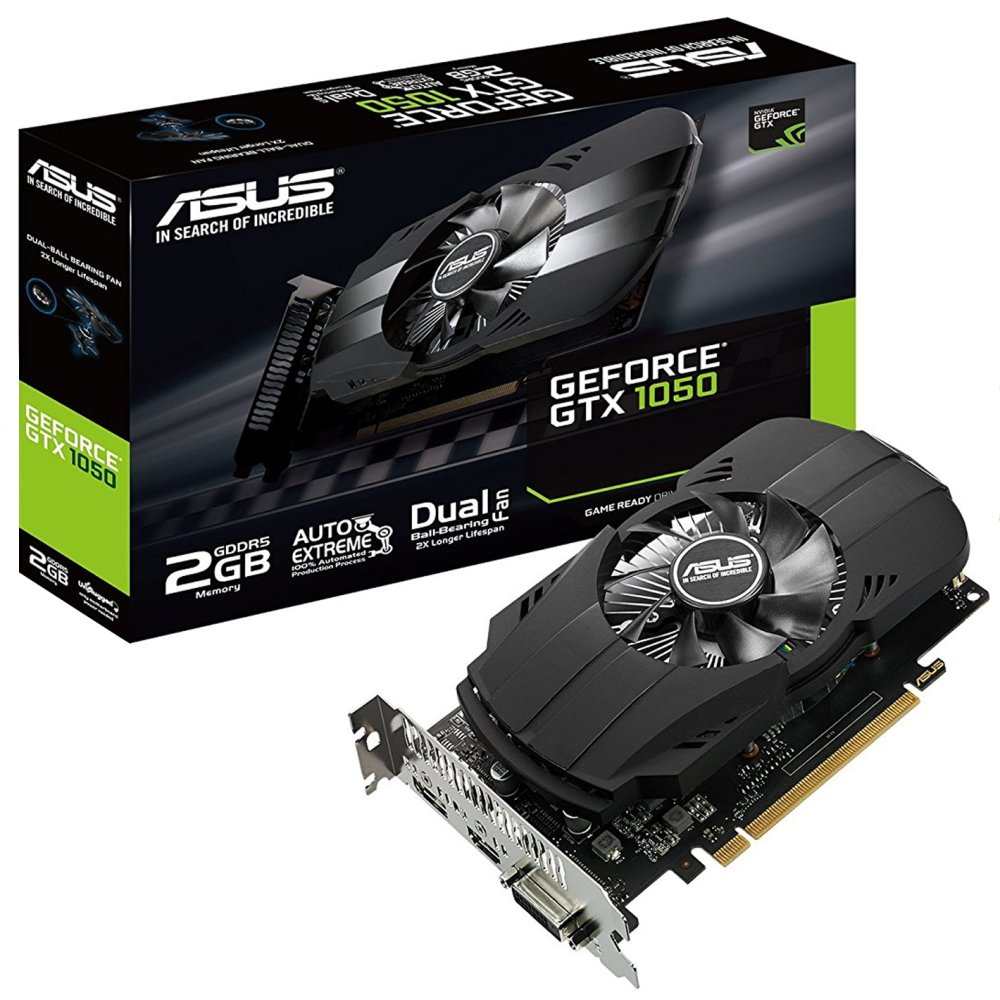 Scheda video asus ph gtx 1050 2gb gddr5 64bit dvi-d