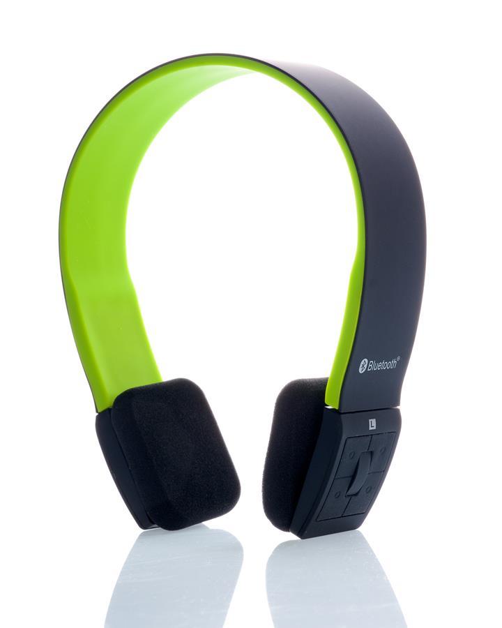 Itek cuffie stereo bluetooth 4.0 con microfono - nero verde