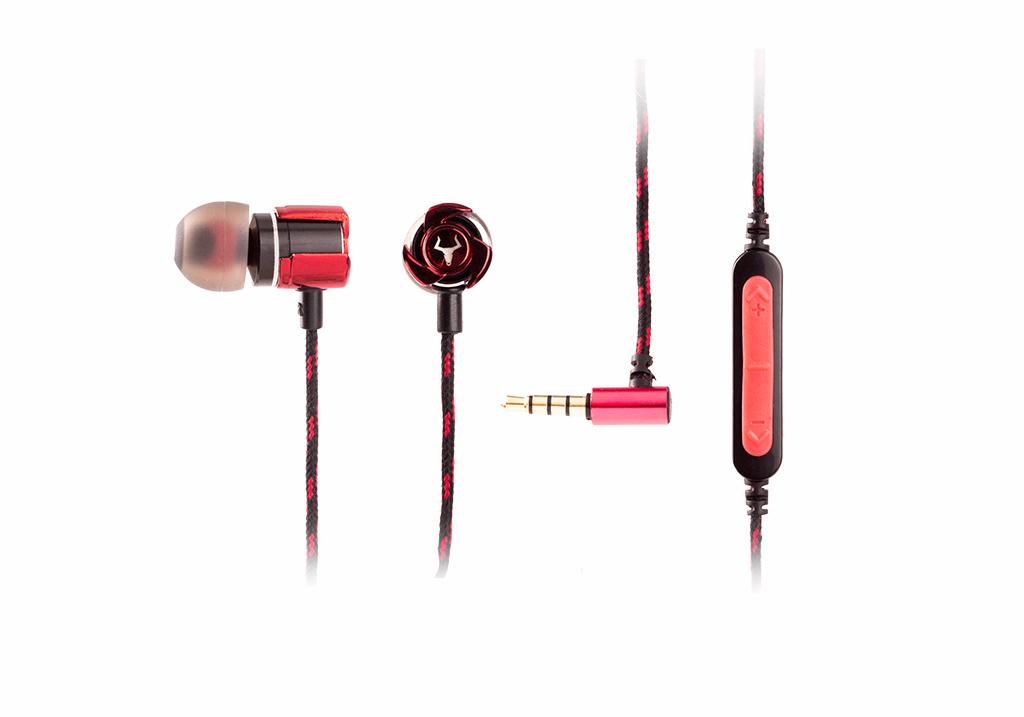 Cuffie in ear gaming taurus ie100 - corpo in lega di zinco, controllo volume indipendente, custodia