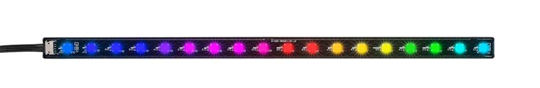 Striscia a led arya - rainbow/addressable rgb con attacco magnetico