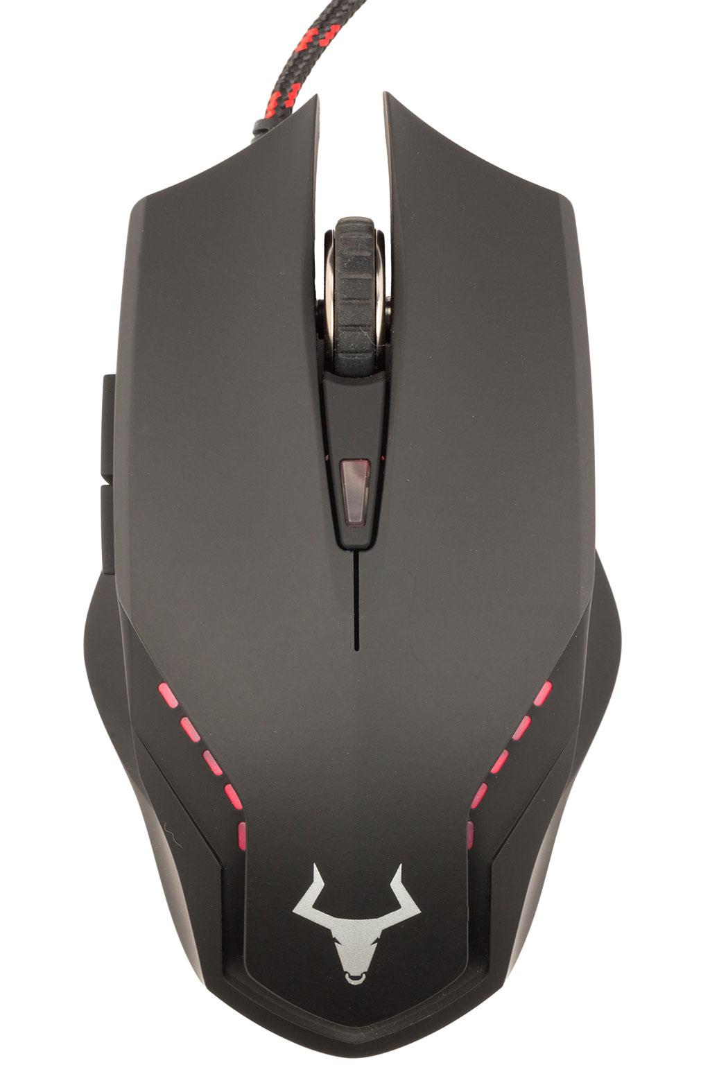 Mouse gaming itek taurus g58a - 2400dpi, illuminazione multicolor, ergonomico