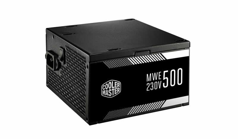 Alimentatore mwe 500w - 80plus white 230v, active pfc, 120mm fan, single brown box