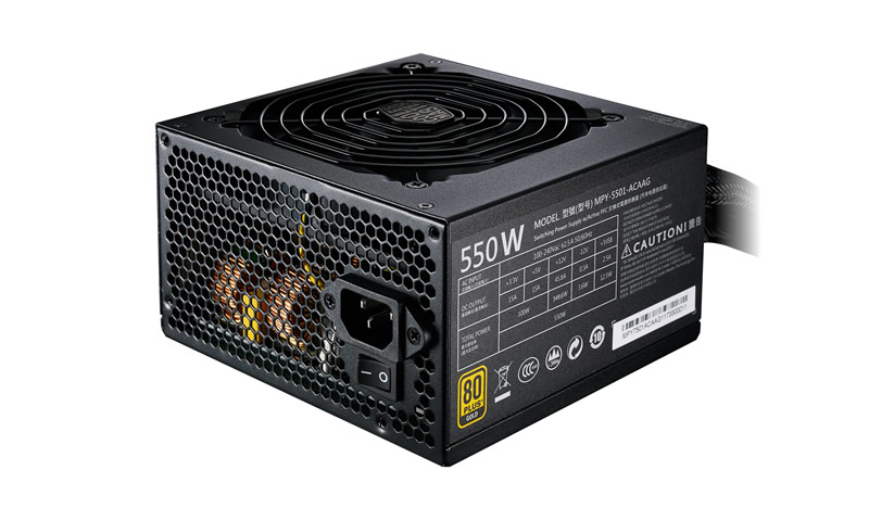 Alimentatore mwe gold 550w - 80plus gold, active pfc, 120mm fan