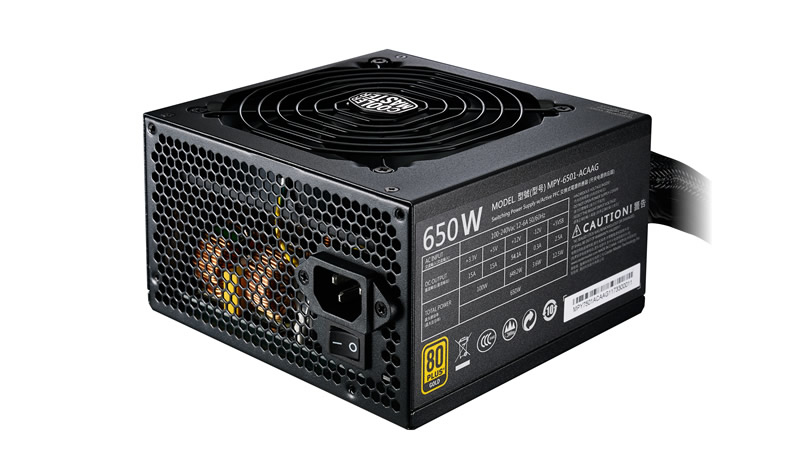 Alimentatore mwe gold 650w - 80plus gold, active pfc, 120mm fan