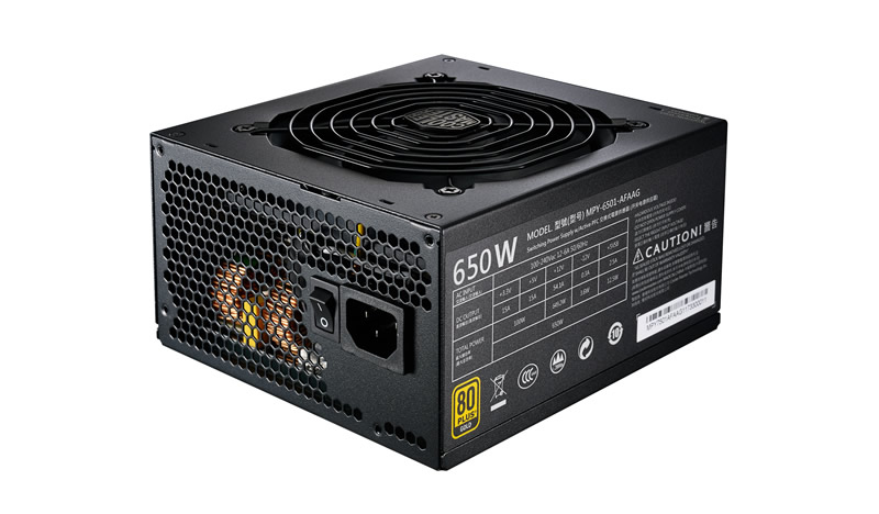 Alimentatore mwe gold 650w - modulare, 80plus gold, active pfc, 120mm fan