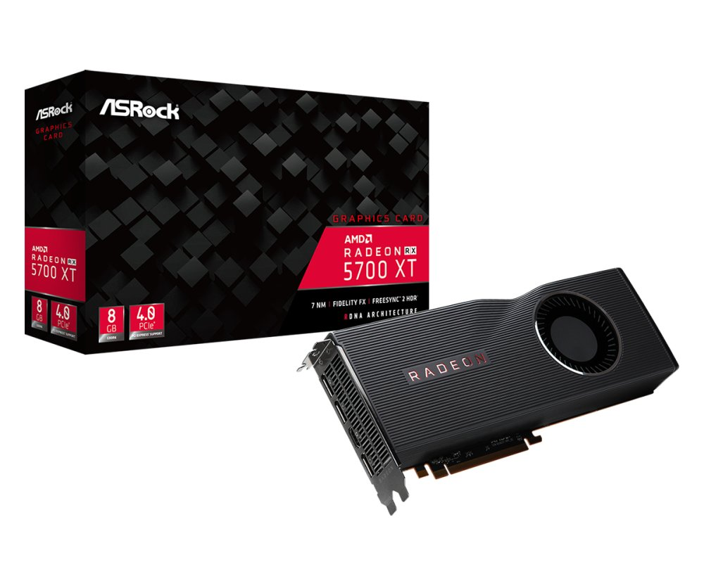 Scheda video asrock rx 5700 xt 8gb amd navi 10