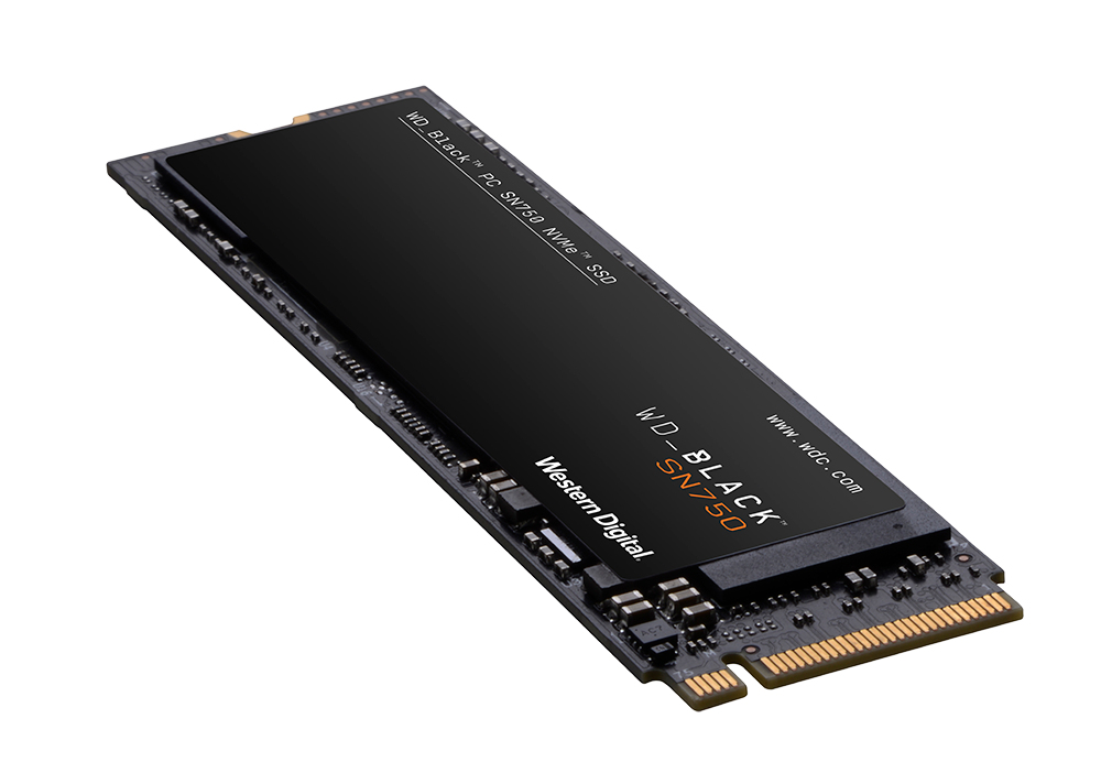Ssd western digital black 500gb m.2 sn750 nvme with heatsink