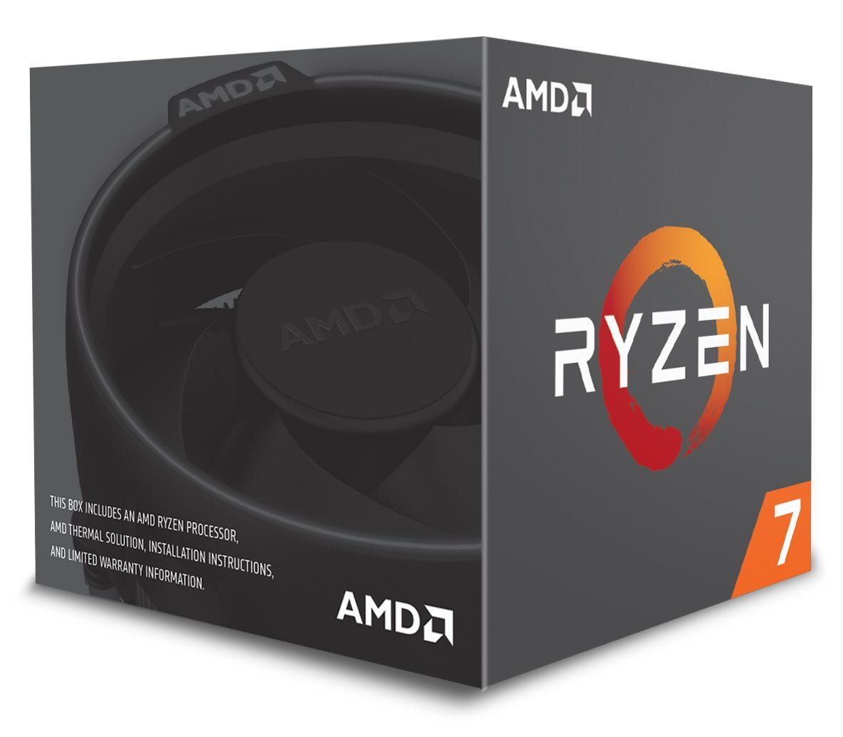 Cpu amd ryzen 7 2700x with wraith prism cooler 105w 4.35ghz 20mb am4 box